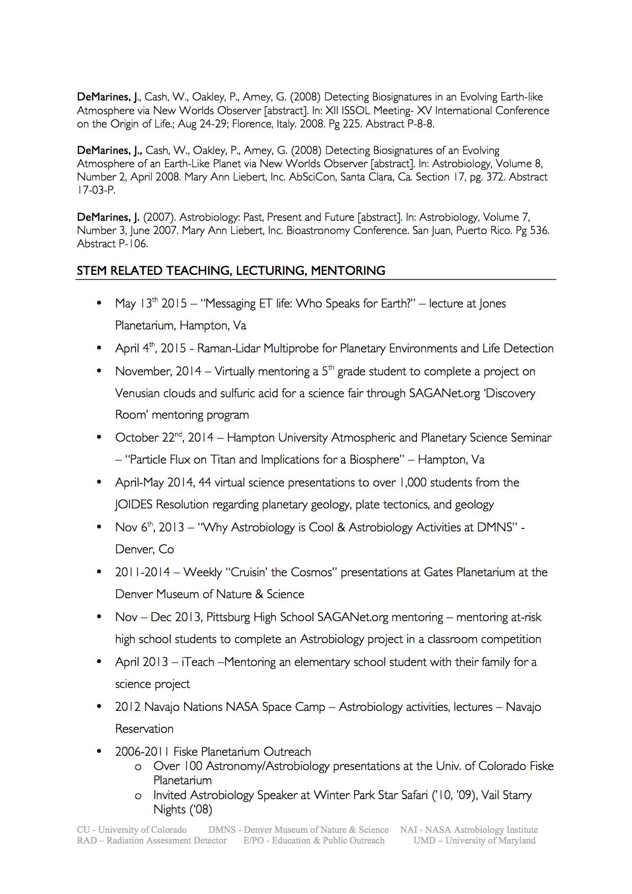 cv r eacute sum eacute julia demarines click for 2015 cv pdf